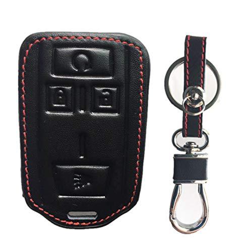 KAWIHEN Leather Smart Remote Key Fob Case Holder Cover for M3N-32337100 22881480 Chevrolet Colorado Silverado 1500 2500 HD 3500 HD GMC Canyon Sierra 1500 2500 HD 3500 HD
