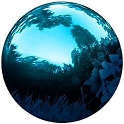 "Trademark Innovations Stainless Steel Blue Gazing Mirror Ball, 10"", Blue"