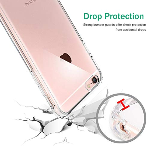 TENOC Case Compatible for Apple iPhone 6 and iPhone 6S 4.7 Inch, Crystal Clear Soft TPU Cover Full Protective Bumper by TENOC (Image #2)