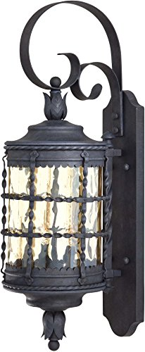 Minka Lavery Outdoor Wall Light 8881-A39 Mallorca Exterior Wall Lantern, 120 Watts, Iron Review