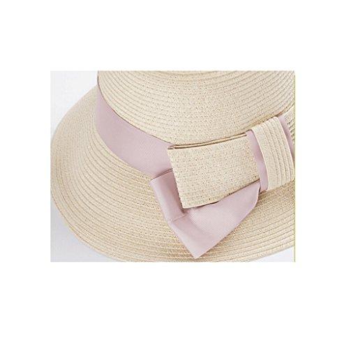 Spiaggia Viola Cappello Pink Donna colore Chiaro Apricot Primavera Elegante Sole Paglia Zhaoshunli Pieghevole Estivo Nuova Vacanza 8q8wSrO6f