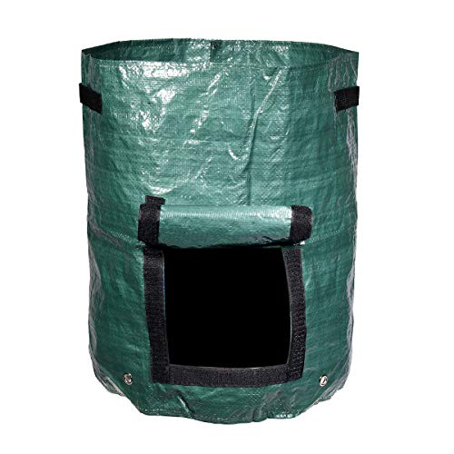 AloPW Yard Waste Bags Green 60L Garden Composter Bin Grow Bag Eco Friendly Organic Compost Storage Bag Waste Converter Yard Garden Supplies Tools
