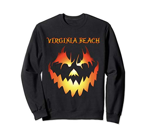 Virginia Beach Jack O' Lantern Halloween Sweatshirt