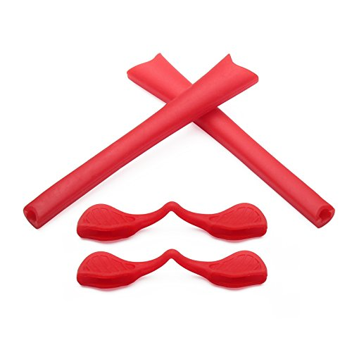 Replacement Earsocks & Nosepieces Rubber Kits for Oakley Radar Path Sunglasses (Red Kits, 0)