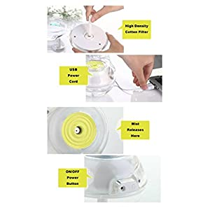 Yellow Air Humidifier for Babies, Kids, Children, Adults, Youth, Teens with Night Light, Auto Safety Shut-off, USB Cord, Adapter, Filter 24 Hours | Quiet, Portable, Great Price, Benefits & Reviews