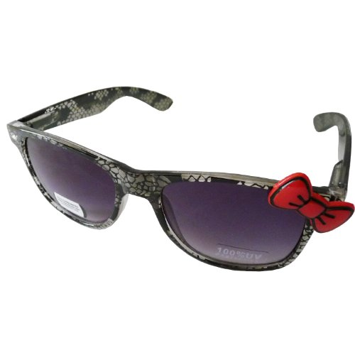 Hello Kitty Animal Print Style Designer Inspired Wayfer Retro Sunglasses