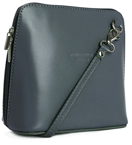 z bolso de bolsa LiaTalia protectora con crossbody hombro Pequeño suave Gris ABBY para de piel mujer 6EE5wFqP