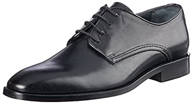 Brando Men's Vlad Lace-Up Flats Shoes, Black, 39 EU