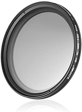 Rakuby 62mm 超薄型 可変フェーダー ND2-400 ニュートラル濃度 NDフィルター 調節可能 ND2 ND4 ND8 ND16 ND32〜ND400 Sigma Tamron Sony Apha A57 A77 A65 DSLRカメラ