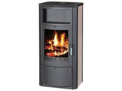 Estufa de leña chimenea moderna Log quemador estufa para madera, cerámica nuevo 7 kW