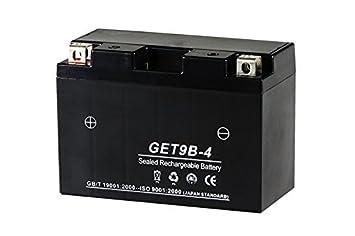 amazon シールド式 gel バイクバッテリー9B BS get9b 4 gt9b 4
