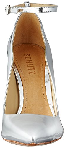 Schutz Women's Shoes Strappy Courts Silver (Prata) cheap price in China sale 2014 for sale free shipping discount best place Ddb35XzaMN