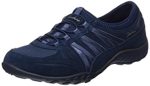 Skechers Womens Relaxed Fit: Breathe Easy - Moneybags Sneaker Navy Size - Sneaker Buck
