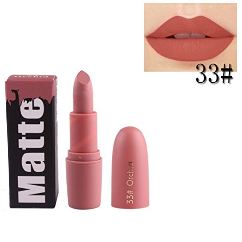 Hunputa Lipstick,Lip Moisturizer,Vivid Colors,Smooth Lips, Blood Madly Matte Lipstick Long Lasting Charming Lip Gloss Cosmetic Beauty Makeup (C)