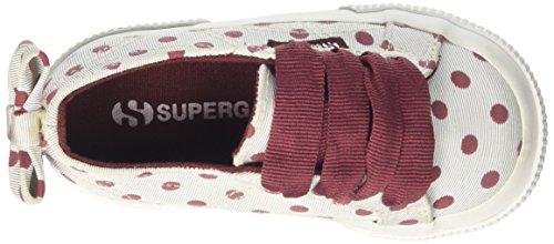 Superga Mädchen 2750-Grossgrainflockedotsj Sneaker Multicolore (Creambordeaux Dots)