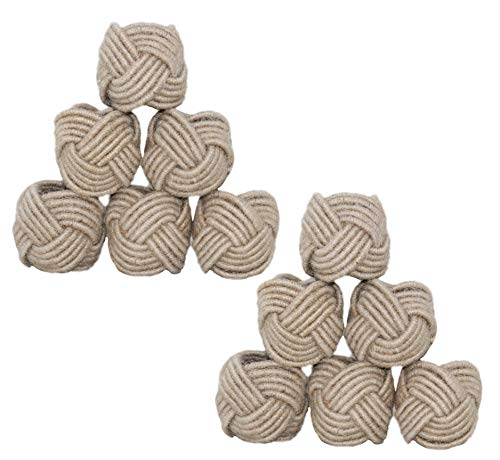 COTTON CRAFT - Jute Napkin Ring - Set of 12-2 Inch Round - Hand Made by Skilled artisans - A Beautiful complement to Your Dinner Table décor