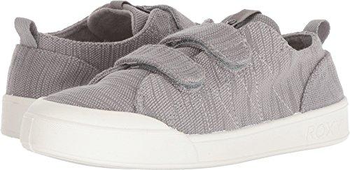Roxy Women's Trevor Velcro Fashion Sneaker Shoe, Grey 9 M US