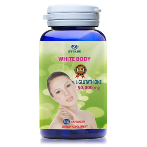 WHITE BODY - L-Glutathione 1500 mg PURE 100% - NATURAL SKIN LIGHTENING PILLS - Support Whitening skin for women and men - 100 days supply HTCARE USA