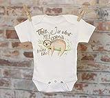 This Is What Milk Coma Looks Like Sloth Onesie®, Cute Onesie, Funny Onesie, Cute Baby Bodysuit, Boho Baby Onesie