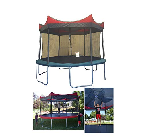 Safety Relible Study Kid Child Trampoline 14' w/Shade Cover Cute Love Gift Quick Arrive
