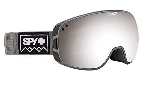 SPY Optic Bravo Deep Winter Gray Snow Goggles | Medium-Sized Ski, Snowboard or Snowmobile Goggle | Two Lenses with Patented Happy Lens Tech (Ski Spy)
