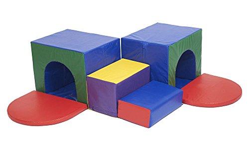 ECR4Kids SoftZone Corner Tunnel Maze Foam Play Climber by ECR4Kids