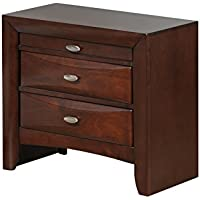 Global Furniture Linda Nightstand, New Merlot