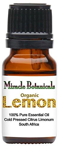 Miracle Botanicals Organic Lemon Essential Oil - 100% Pure Citrus Limonum - Therapeutic Grade - (Lemon Oil Cooking)