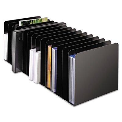 STEELMASTER 26715MRVBK Message Rack, 15-Compartment, Steel, 6 1/4 x 16 1/10 x 6 1/2, Black