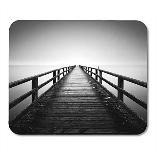 Mouse Pad The Baltic Sea Coast Pier in Sassnitz Island Ruegen Mousepad for Notebooks,Desktop Computers Mouse Mats, Office Supplies (Ruegen Island)
