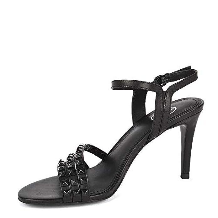 Ash Footwear Hello Sandali Con Tacco In Pelle Nera Borchie Per Donna