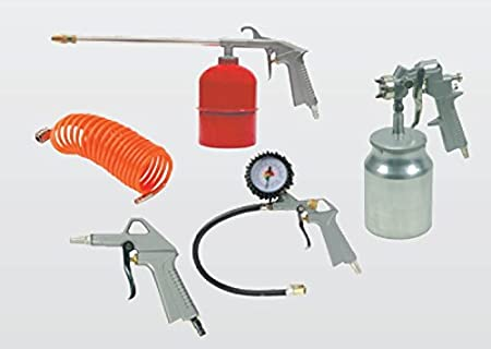 Juego de 5accesorios para compresor Kit Pistola De Soplado De Aire Comprimido Pistola aerógrafo manguera