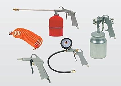 Juego de 5 accesorios para compresor Kit Pistola De Soplado De Aire Comprimido Pistola aerógrafo manguera