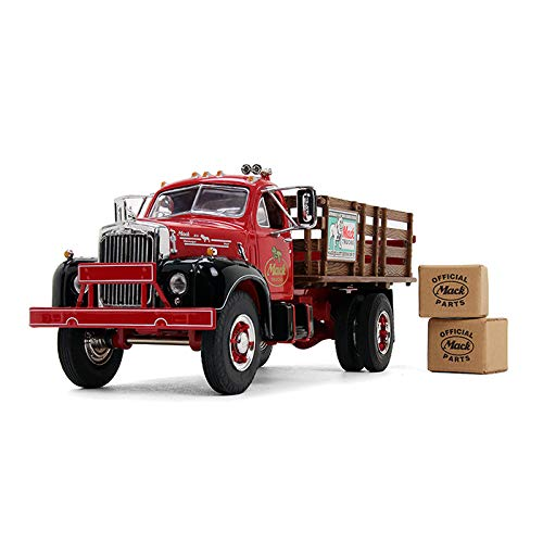 First Gear Mack B-61 Full Stake Truck with 2 Kraft Boxes 1/34 Scale