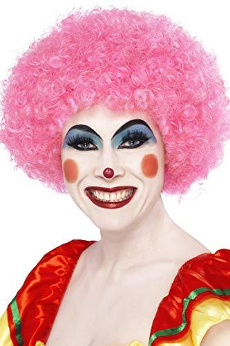 Smiffys Women's Crazy Clown Wig, Pink, One Size ()