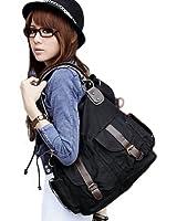 Cool Girl's Canvas Tote/ Shoulder/ Bag (Model: B010026) (Black)
