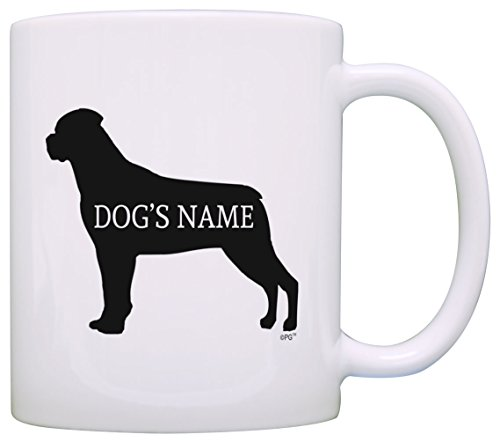 - Personalized Dog Owner Gift Rottweiler Add Dog's Name Pet Dog Lover Gift Coffee Mug Tea Cup White