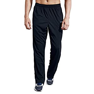 LUWELL PRO Men's Sweatpants with Pockets Open Bottom Athletic Pants for Jogging, Workout, Gym, Running, Training
