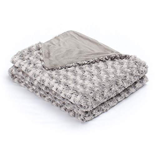 Simple&Opulence Super Soft Microfiber Stereo Rose Pattern Home Furnishing Throw Blanket 50''×60''(Grey)