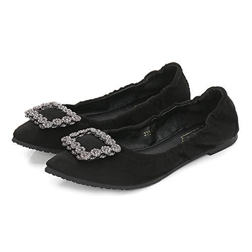Negros EU Casual 40 Manera señoras la Las Zapatos Trabajo de los del de FLYRCX Zapatos Planos 34 Plegables portátiles UE de ExpqvRS