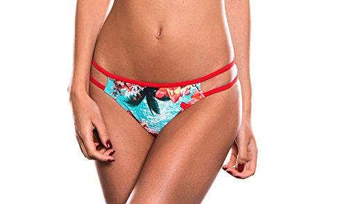 Donna Floral RELLECIGA Bottom Bikini Swimwear Stripes Criss Blu Cross Slip OBCwqxv