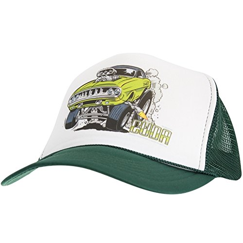 (Old Glory - Mens Plymouth - Cuda Trucker Cap Dark Green)