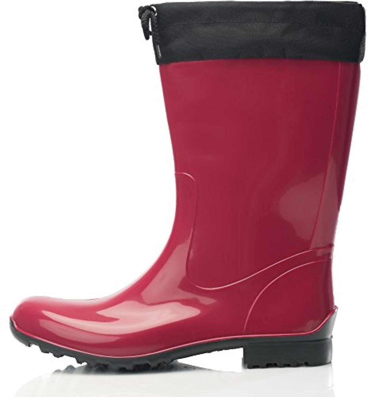 Lemigo Rubber Wellington Boots with Calf Sara 968 (Purple, EU 36 = UK 3,5)