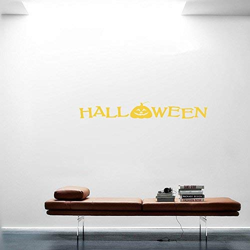 LilithCroft99 24x6 Halloween Pumpkin Jack O Lantern Art Happy Inspirational Quotes Wall Decals for Kids Rooms Boys Girls for Living Room Nursery Wall Stickers