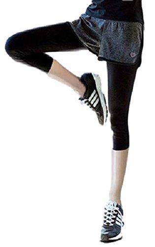 重々しい原子一晩(ボナスティモーロ) Buona stimolo レディース レギンス ショートパンツ 一体型 トレーニング フィットネス ヨガ