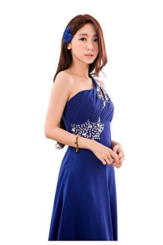 裁判官仕えるスプレー[sweet bell] ロングドレス ドレス ロング パーティードレス 演奏会 結婚式 キャバ フォーマル ブルー 青 FREEサイズ