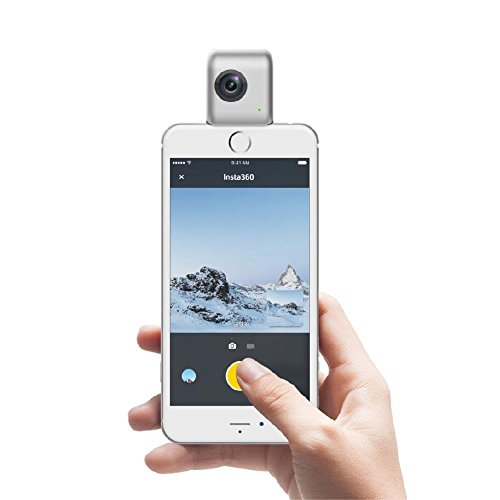 Morjava Insta360 Nano -3D VR Panoramic Sport Camera 3K Dual Lens Portable VR Camera for all iPhone series - White
