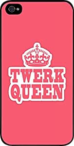 Twerk Queen-Hard Black Plastic Snap - On Case with Soft Black Rubber Lining-Apple Iphone 5C ONLY- Great Quality!