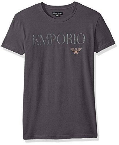 Girocollo Emporio T Armani shirtVerde Uomo Dark Grey Nyw0OvmnP8