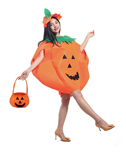Halloween Costume Creative Ideas Adults (MARIAN Halloween Costume for Adult Pumpkin Costume Tunic Set)